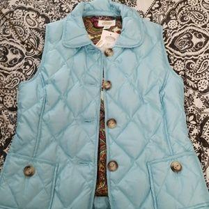 Talbots ocean blue vest